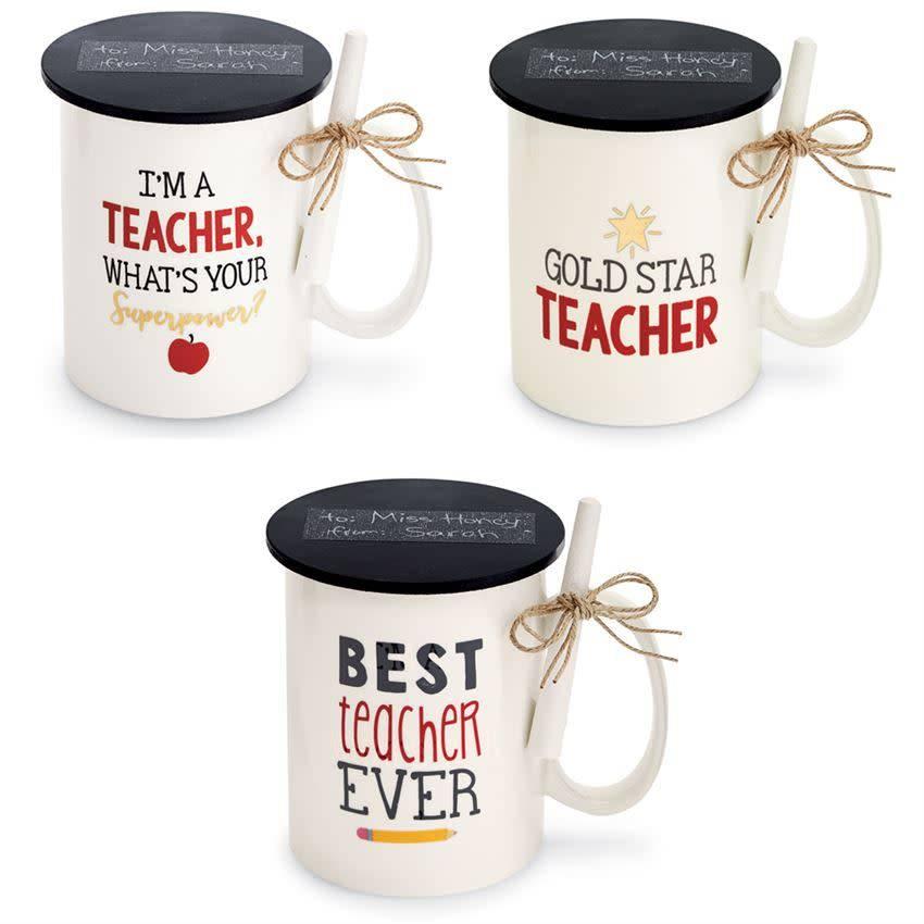 Mudpie BEST TEACHER MUG WITH CHALK *last chance