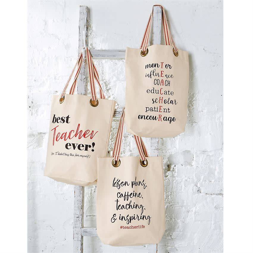 Mudpie TEACHER LIFE TOTE BAG *last chance