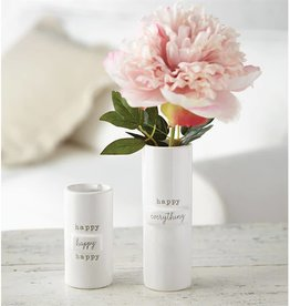 Mudpie HAPPY EVERYTHING STEM VASE