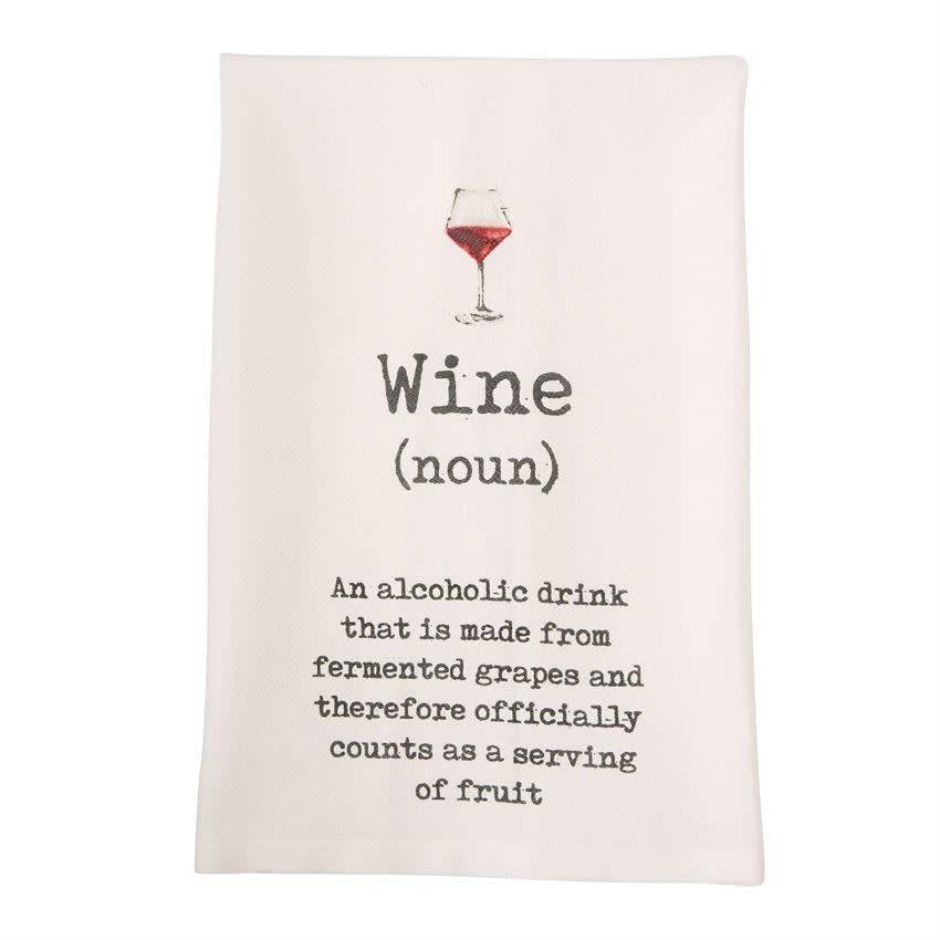 Mudpie Wine Definition Wine Tea Towel