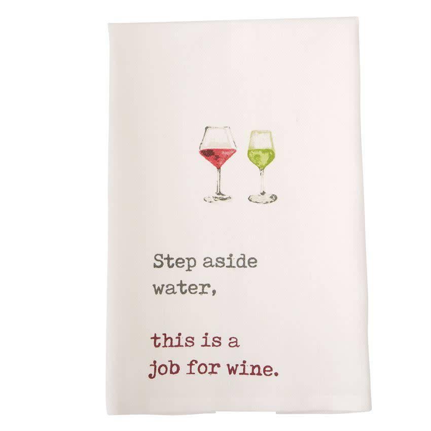 Mudpie Step Aside Wine Tea Towel