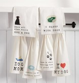 Mudpie BLACK DOG DISH TOWEL