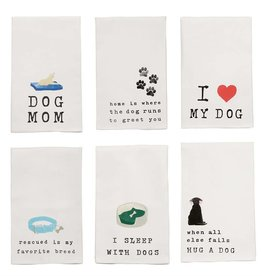 Mudpie DOG COLLAR DISH TOWEL