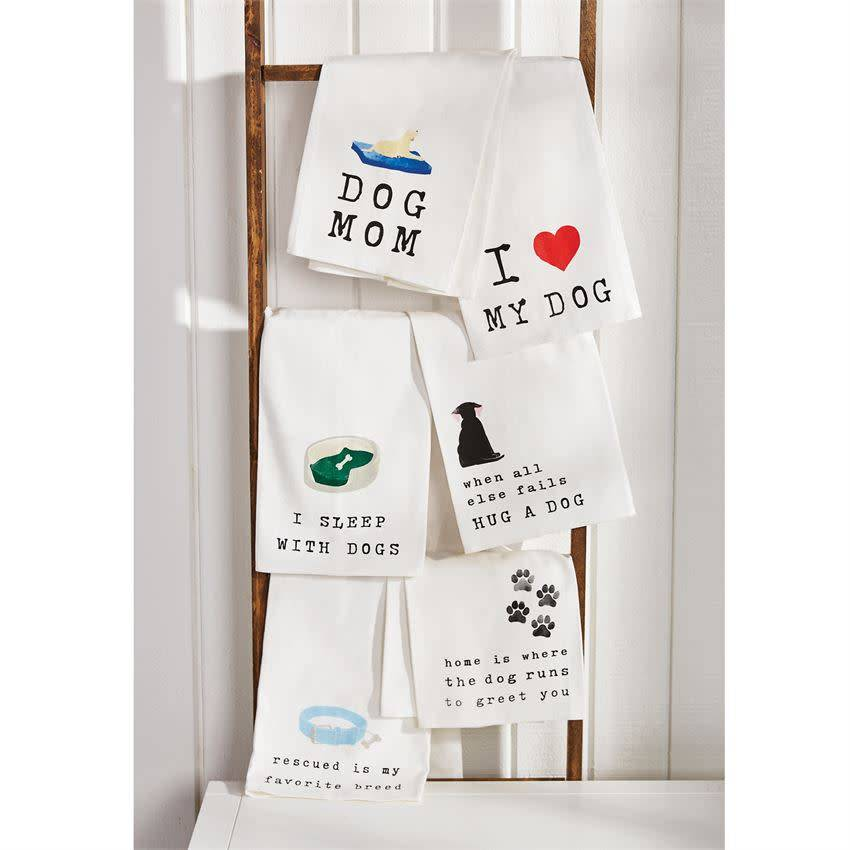 Mudpie DOG BED SENTIMENT DISH TOWEL