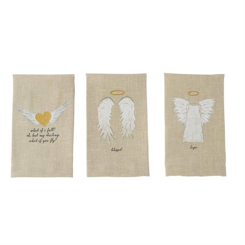 Mudpie BLESSED PAZITIVE TEA TOWEL