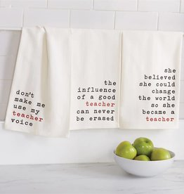 Mudpie INFLUENCE TEACHER DISH TOWEL