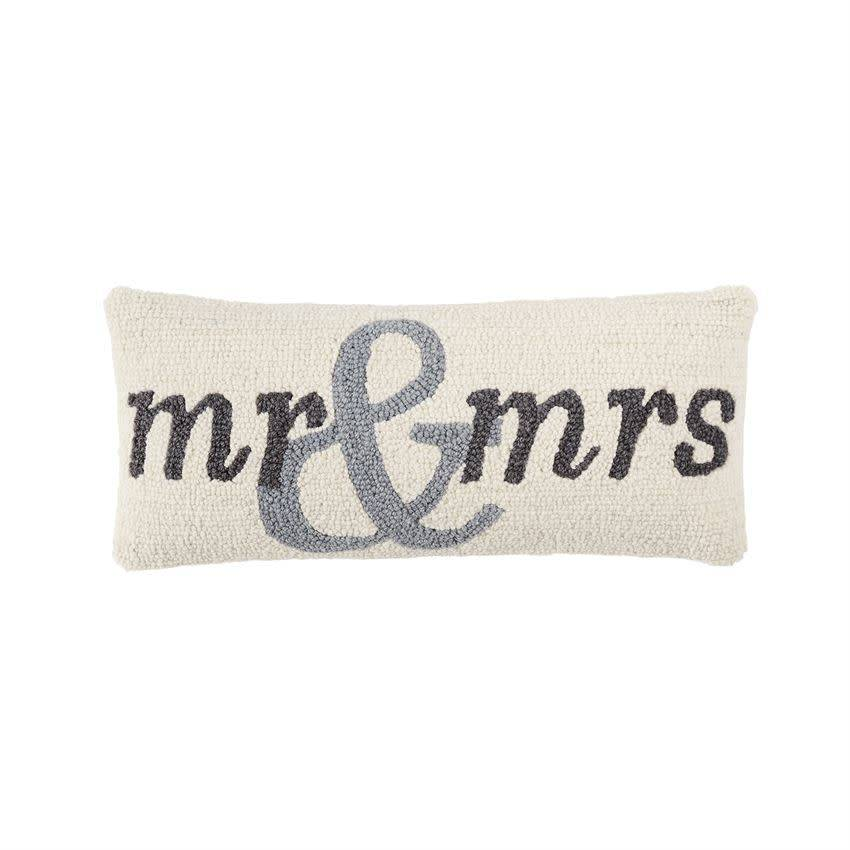 Mudpie MR AND MRS HOOK PILLOW