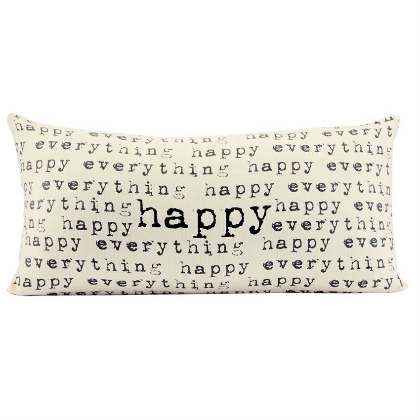 Mudpie HAPPY REPEATED PILLOW
