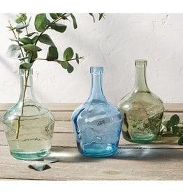 Mudpie BLUE LONG NECK GLASS BOTTLE