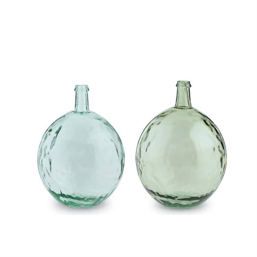 Mudpie CLEAR DIMPLED GLASS BULB BOTTLE