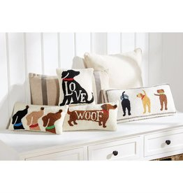 Mudpie DACHSHUND WOOF HOOK PILLOW