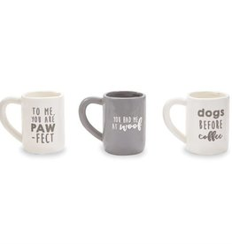 Mudpie DOG BEFORE COFFEE PET MUG