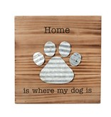 Mudpie HOME IS WHERE DOG PLAQUE *last chance