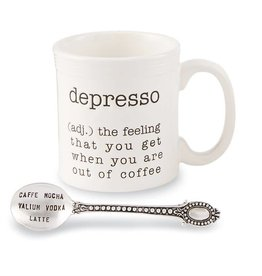 Mudpie DEPRESSO COFFEE MUG SET