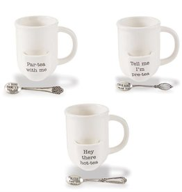 Mudpie TELL ME TEA CUP SET
