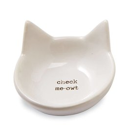 Mudpie CHECK MEOWT CAT TRINKET DISH