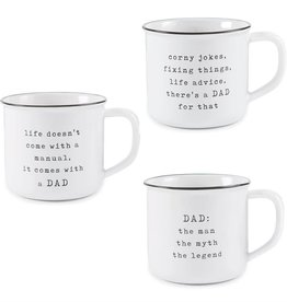 Mudpie LIFE DOESNT COME DAD MUG
