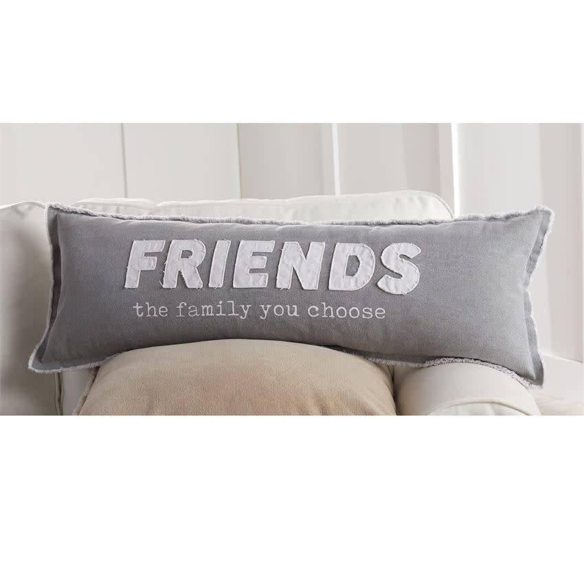 Mudpie FRIENDS LONG CANVAS PILLOW