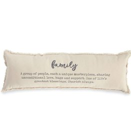 Mudpie Washed Canvas Family Definition Pillow