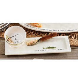 Mudpie RETREAT APPETIZER AND BOWL SET