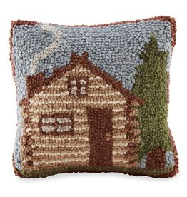 Mudpie CABIN HOOK WOOL PILLOW