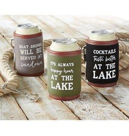 Mudpie HAPPY HOUR LAKE DRINK SLEEVE SET