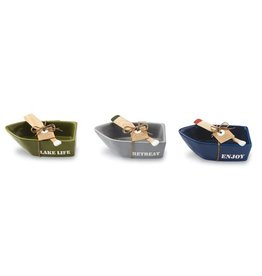 Mudpie NAVY ENJOY CANOE DIP CUP SET