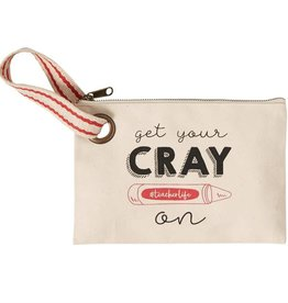 Mudpie CRAY ON TEACHER CANVAS POUCH *last chance