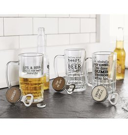 Mudpie ALCOHOL DEFENSE BEER MUG SET