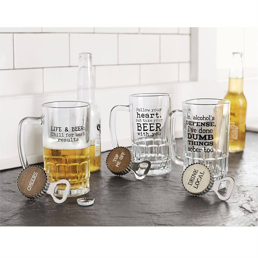 Mudpie ALCOHOL DEFENSE BEER MUG SET