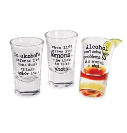 Mudpie ALCOHOL'S DEFENSE  SHOT GLASS *last chance