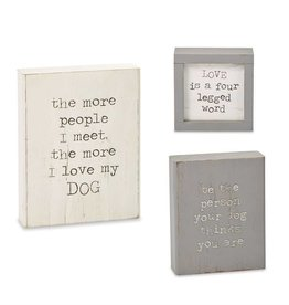 Mudpie BE THE PERSON DOG PLAQUE *last chance