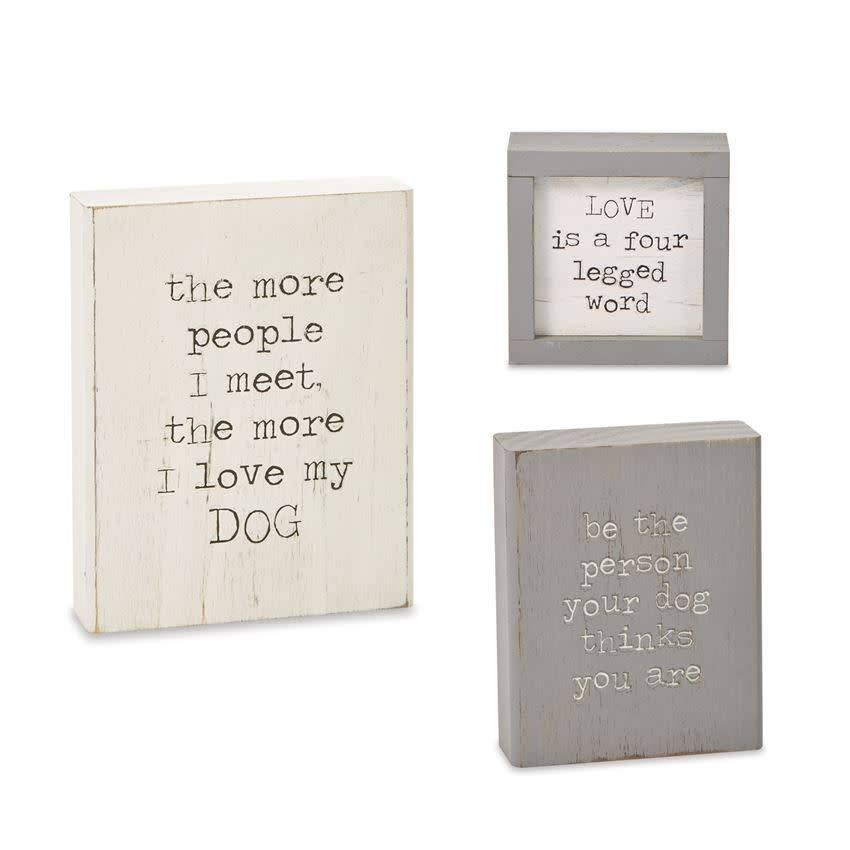 Mudpie BE THE PERSON DOG PLAQUE