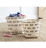 Mudpie CANVAS DOG BINS SET