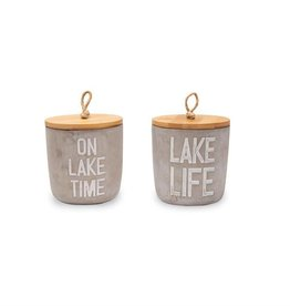 Mudpie ON LAKE TIME CITRONELLA CANDLE