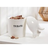 Mudpie DOG TAIL TREAT CANISTER