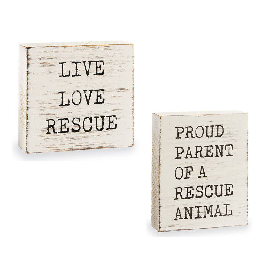 Mudpie LIVE LOVE RESCUE PLAQUE