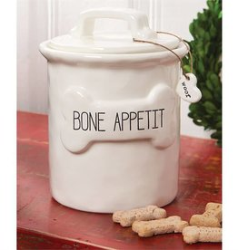 Mudpie BONE APPETIT TREAT CANISTER