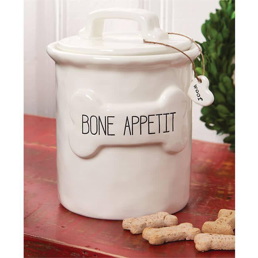 Mudpie BONE APPETIT TREAT CANISTER