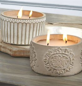 Mudpie CONCRETE CITRONELLA CANDLES (CHOICE OF 2 STYLES)