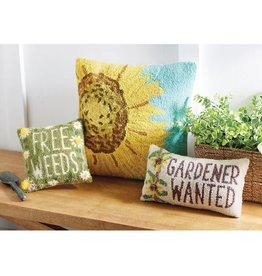 Mudpie FREE WEEDS GARDEN HOOK PILLOW