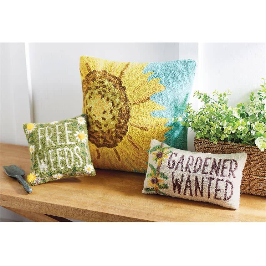 Mudpie FREE WEEDS GARDEN HOOK PILLOW