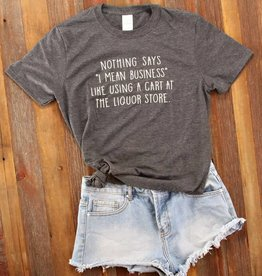 Fleurish Home Cart at Liquor Store Quote Tee