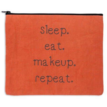 Fleurish Home Sleep Eat Makeup Repeat Travel Bag *last chance