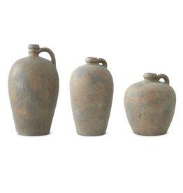 Fleurish Home Terracotta Jug with Bronze Glaze