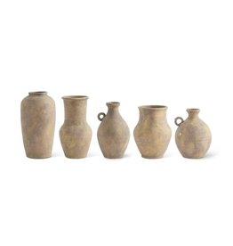 Fleurish Home Ceramic Vase/Jug w Terracotta Finish (design varies by size)
