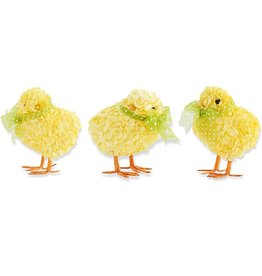 "Fleurish Home Sm Yellow Ribbon Chick (choice of 3 styles) 2.75"""