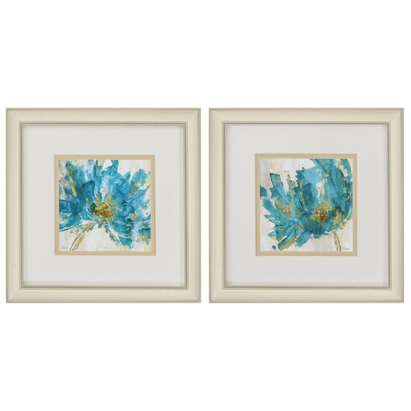 Fleurish Home Blue Infusion 12x12 (Choice of 2 Images)
