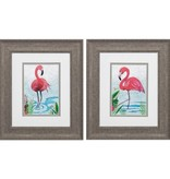 Fleurish Home Vivid Flamingo 13x11 (Choice of 2 Images)