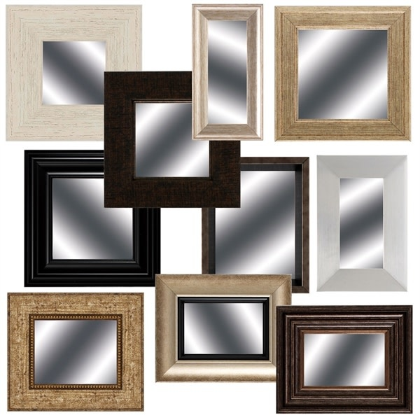 Fleurish Home Small Framed Mirror (Choice of 10 Styles)